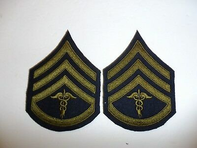 b0724 1930's-WW2  US Army unofficial  Medical Staff Sergeant