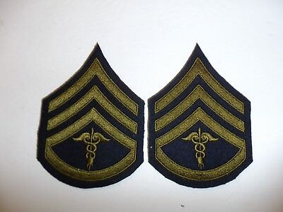 b0724p 1930's-WW2 US Army unofficial Medical Staff Sergeant pair R1D