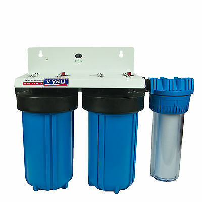 "2x10"" Jumbo Big Blue Water Filter, Pre Filter 1"" Ports,Private Water Supply,Koi"