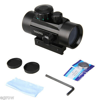 Tactical Holographic Reflex Reticle Red Green Dot Sight Scope Mount 30mm Rail