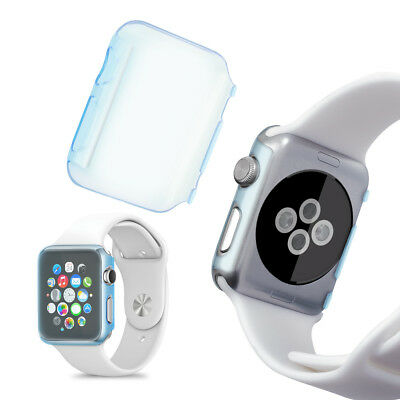 kwmobile CRYSTAL HARDCASE FÜR APPLE WATCH 42MM (SERIES 1) BLAU SMARTWATCH UHR