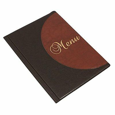 Leather Menu Holder A4 Size Restaurant Pub Hotel Display Sign Table Top C1