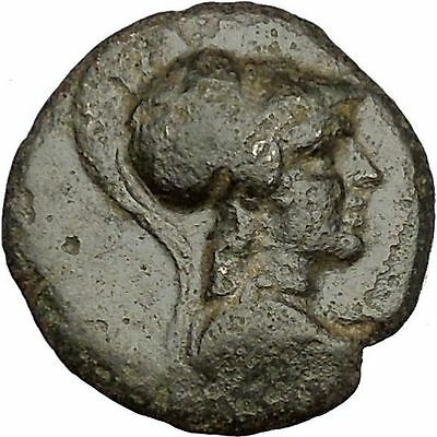 APAMEIA in PHRYGIA 133BC Athena Eagle Dioscuri Caps Ancient Greek Coin i51929
