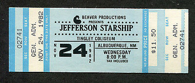 1982 Jefferson Starship unused concert ticket Albuquerque NM Winds Of Change
