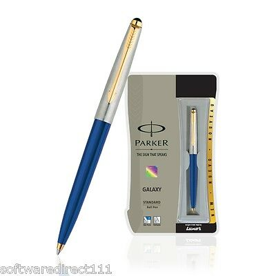 Parker Galaxy Standard GT (Gold Trim) Ball Pen (Blue) Original Brand New in Box