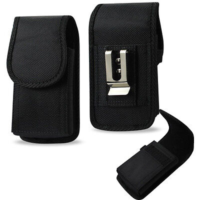 Vertical Canvas Case for GreatCall Jitterbug 5 Flip phone.
