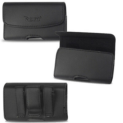 Horizontal Leather Case for GreatCall Jitterbug 5 Flip phone.