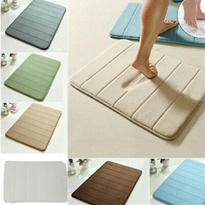Memory Foam Rug Bathroom Bath Mat  Bedroom Non-slip Mats Shower Carpet 40cmx60cm