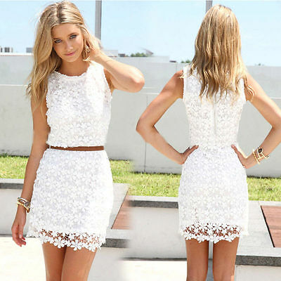 Fashion Sexy Women Summer Casual Sleeveless Party Evening Cocktail Dress S-XXL