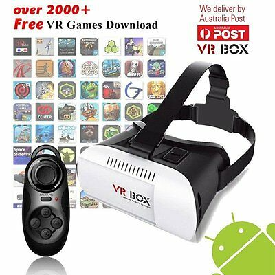 VR Headset VR BOX Virtual Reality Glasses 3D for Samsung Iphone 5 6s Plus AU
