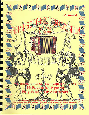 Accordion, 16 Favourite Hymns Book, Easy & Fun To Learn/ Play By Numbers