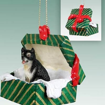 Alaskan Malamute Dog Green Gift Box Holiday Christmas ORNAMENT