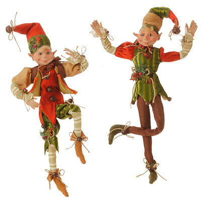 Posable Elf Figure for Fall and Thanksgiving Decorating rzha 3502204 NEW RAZ