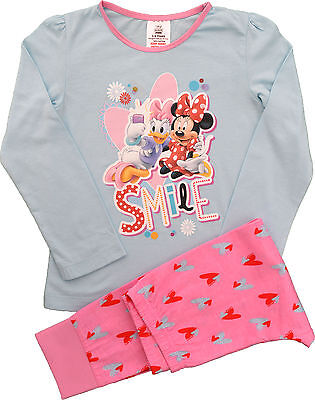MM94 Girls Disney Minnie Mouse Smile Cotton Pyjamas Sizes 12 Months to 5 Years