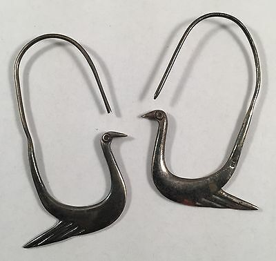Vintage Bird Sterling Silver Earrings