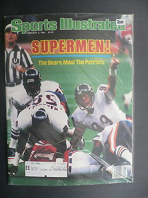 Sports Illustrated February 3, 1986 Chicago Bears Super Bowl XX NFL Feb '86 B