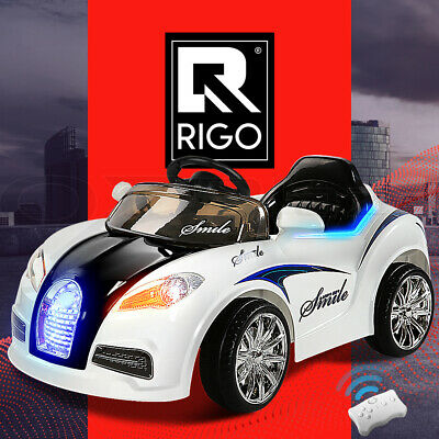 Kids Ride-On Car Bugatti Style Sports Electric Toys Battery 12V Remote White