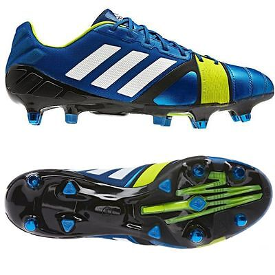 Adidas Nitrocharge 1.0 XTR Blue Firm Ground Performance Football Soccer Boots