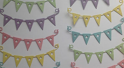 Flags & Lanterns Bunting Die Cuts - Assorted Colours in sets of 10