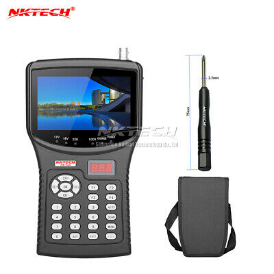 NKTECH HD Digital Satellite TV Signal Finder Meter NK-620 CCTV Camera Tester AHD
