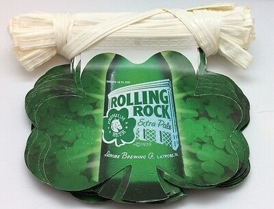 Large 100FT Rolling Rock Leaf Beer Flag Banner Promotional Promotion Shamrock 33