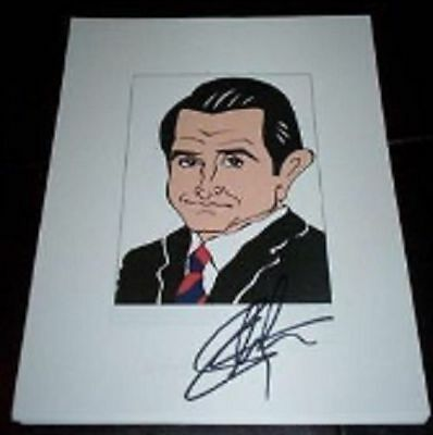 ANTHONY LAPAGLIA Without A Trace, Frasier Signed Auto 8.5x11 Cartoon Autograph c