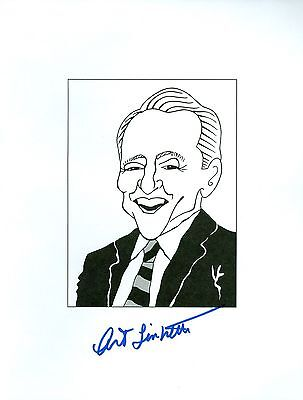 ART LINKLETTER Kids Say The Darndest Things Signed Auto 8.5x11 Cartoon Autograph