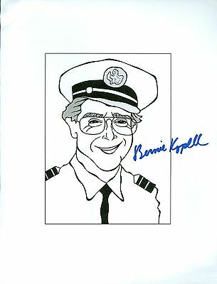 BERNIE KOPELL The Love Boat, Star Trek Hand Signed Auto 8.5x11 Cartoon Autograph