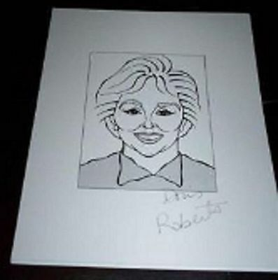 "DORIS ROBERTS ""Marie"" Everybody Loves Raymond Signed 8.5x11 Cartoon Autograph"