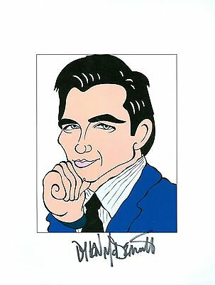 DYLAN MCDERMOTT The Practice, Will & Grace Signed Auto 8.5x11 Cartoon Autograph