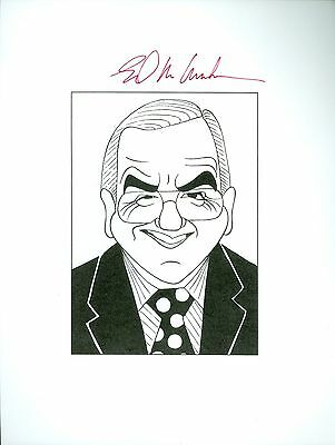 ED MCMAHON, RIP Tonight Show Johnny Carson Signed Auto 8.5x11 Cartoon Autograph