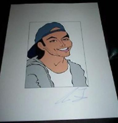 KEVIN FEDERLINE KFED Divorced Britney Spears Signed  8.5x11 Cartoon Autograph a