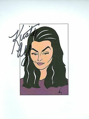 KIRSTIE ALLEY Cheers, King of Queens, Infidelity Signed 8.5x11 Cartoon Autograph