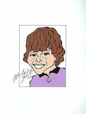 "MIKE LOOKINLAND ""Bobby"" The Brady Bunch Signed Auto 8.5x11 Cartoon Autograph"