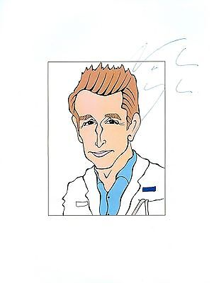 NOAH WYLE Pirates Of Silicon Valley, ER Signed Auto 8.5x11 Cartoon Autograph