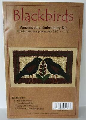 Blackbirds  Punch Needle Kit