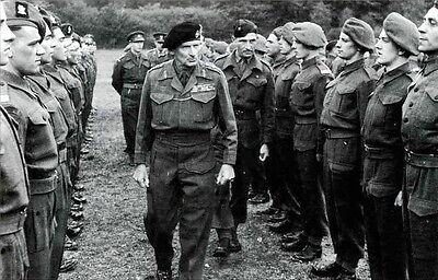 WW2 Photo WWII British General Montgomery D-Day Inspection of Troops  / 1212
