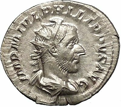 Philip I the Arab Rare Silver Ancient  Roman Coin Virtus Valor Courage  i52057