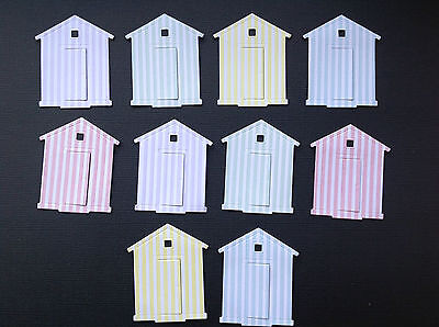 Beach Hut Die Cuts - Sets of 20 in various colours