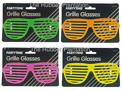 Shutter Glasses Fancy Dress Sunglasses Specs Grille Kanye West Retro 80's 90's