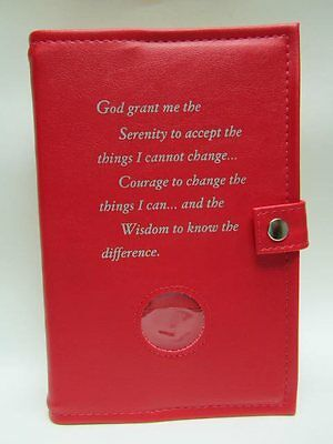Alcoholics Anonymous AA Big Book and 12&12 Double Cover Serenity Prayer RED