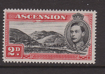 """ASCENSION - 1938/53 GVI 2d WITH """"MOUNTAINEER"""" FLAW MINT SG.41ca  (REF.A7)"""