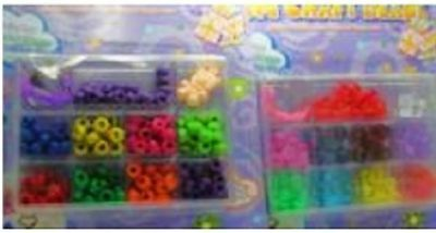 2x Fun Craft Beads for Kids Packets Kids Beading Sets