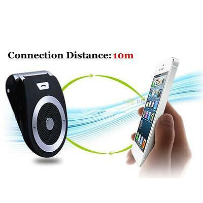 Super Wireless Bluetooth Bass Stereo In Car Handsfree Speaker Kit For iPhone BF
