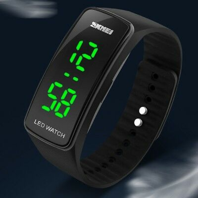 Men Womens New Fashion Silicone LED Sport Bracelet Touch Digital Wrist Watch