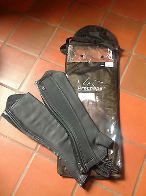 Pro Chaps Competition  Black Half Chaps   Brand New   Various Sizes
