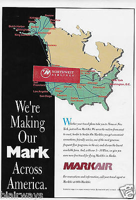 Markair Alaska From Nome To New York We're Making Our Mark 1994 Ad