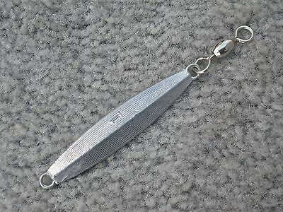 1of our AVA type fishing jig 6oz Hammered Diamond Bass Blues lure raw