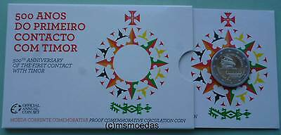 Portugal 2 Euro Gedenkmünze 2015 Timor Coincard Blister Official Set Proof PP