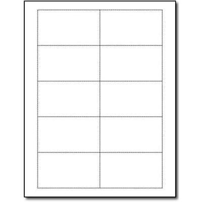 Heavyweight 80lb White Blank Business Cards - 25 Sheets / 250 Business Cards -